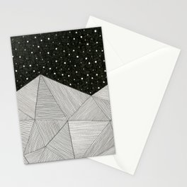 Stripe Mountains Stationery Cards