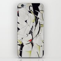women iPhone & iPod Skins featuring women by KA Art