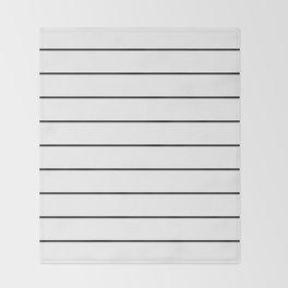 SKINNY STRIPE ((black on white)) Throw Blanket