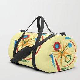 Abstract clock Duffle Bag