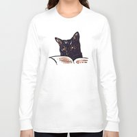 ripley Long Sleeve T-shirts featuring Ripley Reads by Helenasia