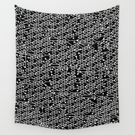 Microchip Pattern (White) Wall Tapestry