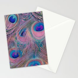 Sugar Peacock Feathers Stationery Cards