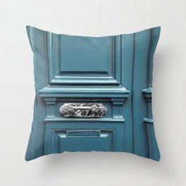 Blue Moon Doorway Throw Pillow