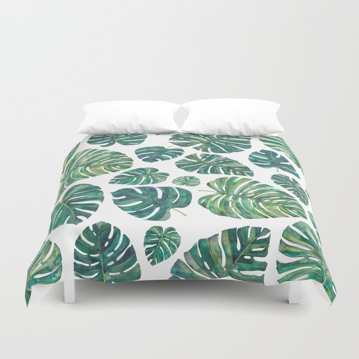 forest duvet tree banana leaves covers quilt themed beach bedding palm tropical exotic