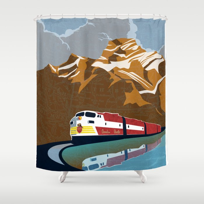 vintage CP rail poster Shower Curtain