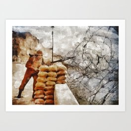 Stand Watch, World War Two Art Print