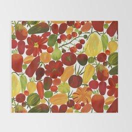 Whimsical Fruit Salad Throw Blanket