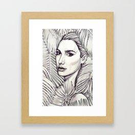 Stunning Gal Gadot Framed Art Print