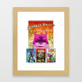 Armless Bear's Mad as Bees Framed Art Print