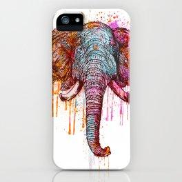 Watercolor Elephant Head iPhone Case
