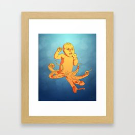 Travis (Octo-baby) Framed Art Print