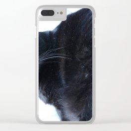Simon the Black Halloween Sanctuary Cat Clear iPhone Case