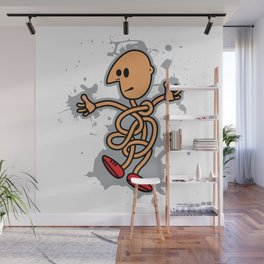 Curled Man Wall Mural
