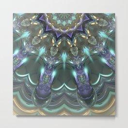 Crystal Sun Reflections Metal Print