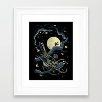 murakami Framed Art Prints featuring wind up bird chronicle - murakami by miles to go