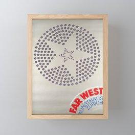 placard far west indianer und siedler im Framed Mini Art Print