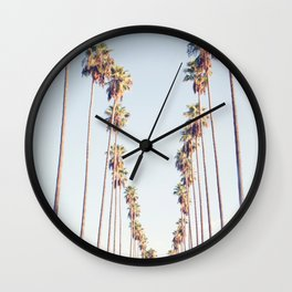 Palm tree stripes Wall Clock