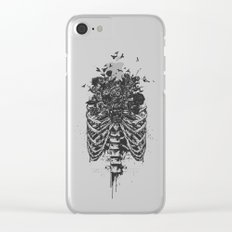 New life (b&w) Clear iPhone Case