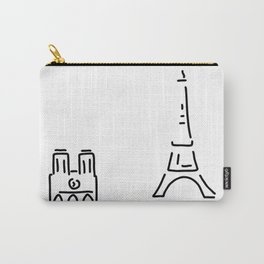 Paris eiffelturm notre dame Carry-All Pouch
