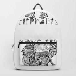 Save the elephants shirt Backpack