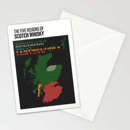 The Five Regions of Scotch Whisky Stationery Cards
