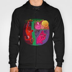 doodle animals hanging out Hoody