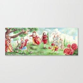 Alice's Adventures in Wonderland - The Croquet Scene | Off with her head! Canvas Print