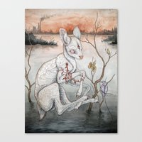 plain Canvas Prints featuring Ghosts From The Flood Plain by Caitlin Hackett