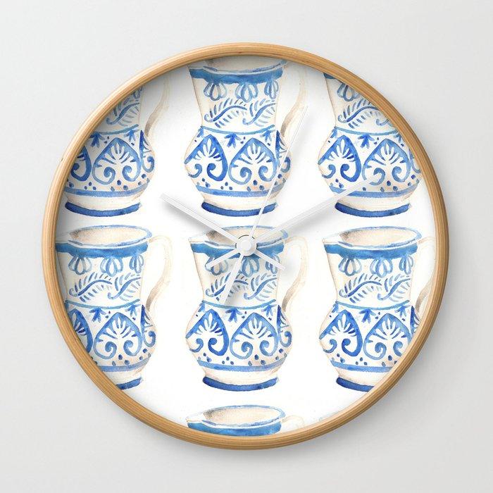 Handmade Ceramic Wall Clock By Ainabestard Society6