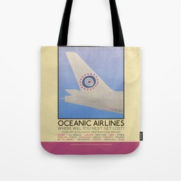 Silver Screen Tourism: OCEANIC AIRLINES / LOST Tote Bag