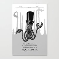 squid Canvas Prints featuring Squid by TwoShoes