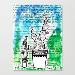 Cactus 80 galactic sky Canvas Print