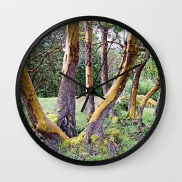 MAGIC MADRONA FOREST Wall Clock