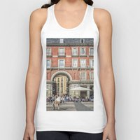real madrid Tank Tops featuring Relaxing cup, Madrid by Solar Designs