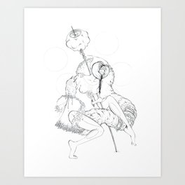 Cosmic Shaman Art Print