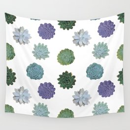 Succulent plant pattern 2 Wall Tapestry