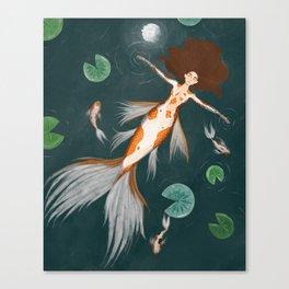 Koi Maiden GinRin Kohaku Canvas Print