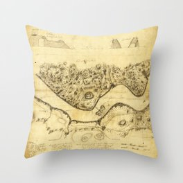 Original West Point Survey Map October 24th-27th 1783 Throw Pillow
