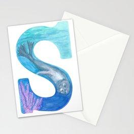 Illustrative Letter S for Sea Lion Stationery Cards