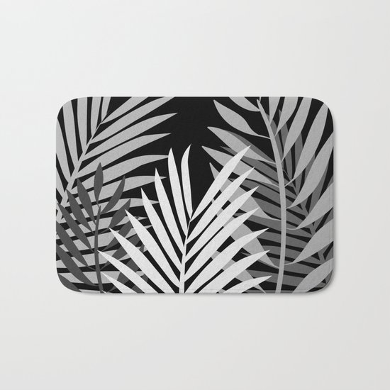 TROPICAL PALM LEAVES 1 Bath Mat