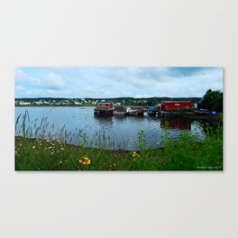 Fisherman's Wharf in Cape Breton Canvas Print