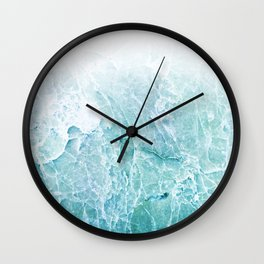 Sea Dream Marble - Aqua and blues Wall Clock
