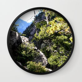 Clinging to the Brink over Vallecito Creek Wall Clock