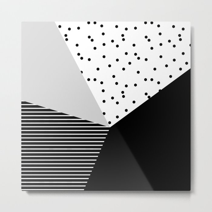 Geometry Blocks 10 Metal Print