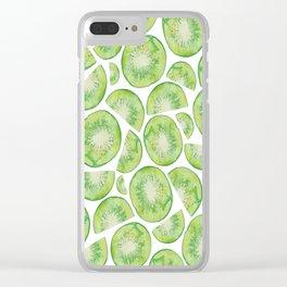 Watercolour Kiwi Fruit Clear iPhone Case