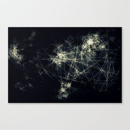 Infinity Particles Abstract Canvas Print