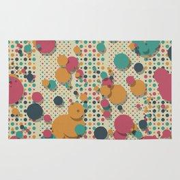 """Retro Colorful Polka Dots 02"" Rug"