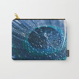 Peacock Feather Macro Waterdrops Carry-All Pouch