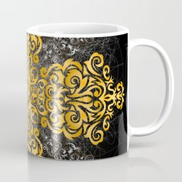 Floral golden and silver ornament Coffee Mug